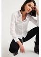Xtsy Uzun Kollu Gömlek Beyaz